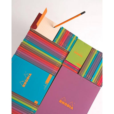 Rhodia ColoR Pads, Raspberry Cover, Ruled Pages, 6 x 8 1/4