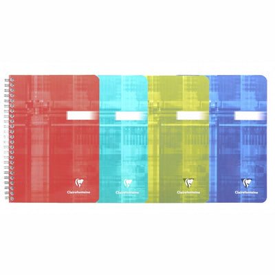 Clairefontaine Wirebound Notebook - Graph 90 sheets - 6 x 8 1/4 - Assorted