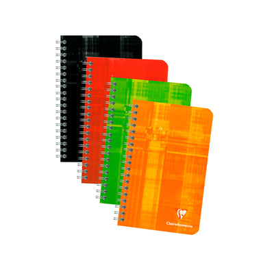 Clairefontaine Wirebound Notebook - Ruled 90 sheets - 4 1/4 x 6 3/4 - Assorted