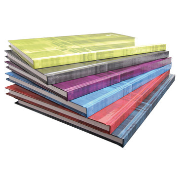 Clairefontaine Hardcover Notebook - Ruled w/ margin 96 sheets - 8 1/4 x 11 3/4 - Assorted