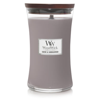 WoodWick Large Hourglass Candle - Suede & Sandalwood