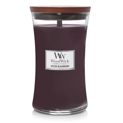 WoodWick Large Hourglass Candle - Spiced Blackberry