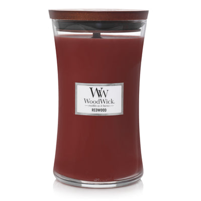 WoodWick Large Hourglass Candle - Redwood