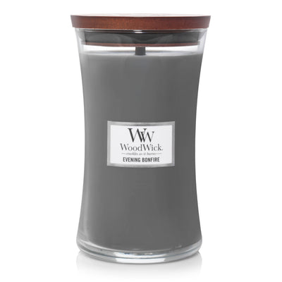 WoodWick Large Hourglass Candle - Evening Bonfire