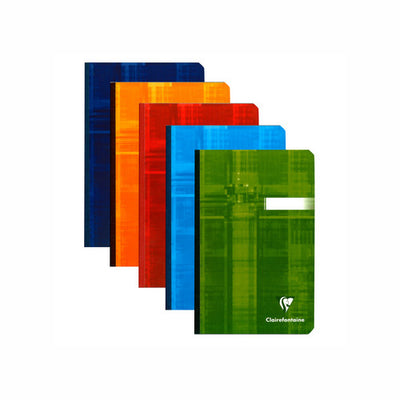 Clairefontaine Clothbound Notebook - Ruled 96 sheets - 4 1/4 x 6 3/4 - Assorted