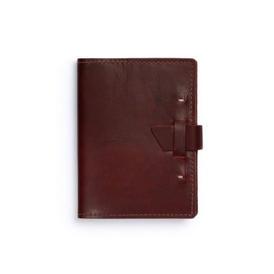 Wasatch Leather Notebook - Burgundy