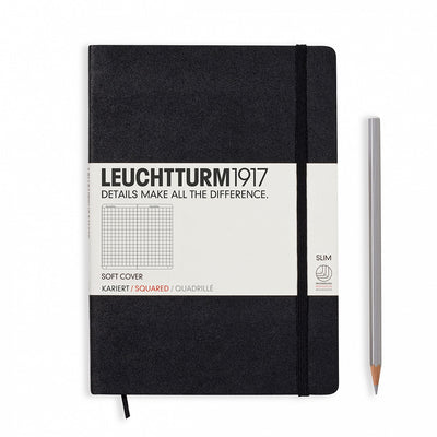 Leuchtturm A5 Softcover Notebook - Black - Squared