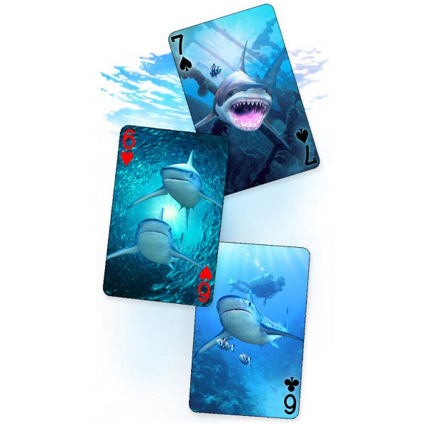 3D Playing Cards - Sharks