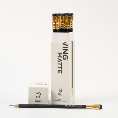 Blackwing Pencils:  Matte Black (Set of 12)