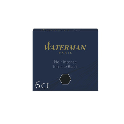 Waterman Fountain Pen Ink Cartridges - Black