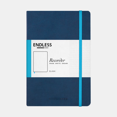 Endless A5 Hardcover Notebook - Deep Ocean - Blank