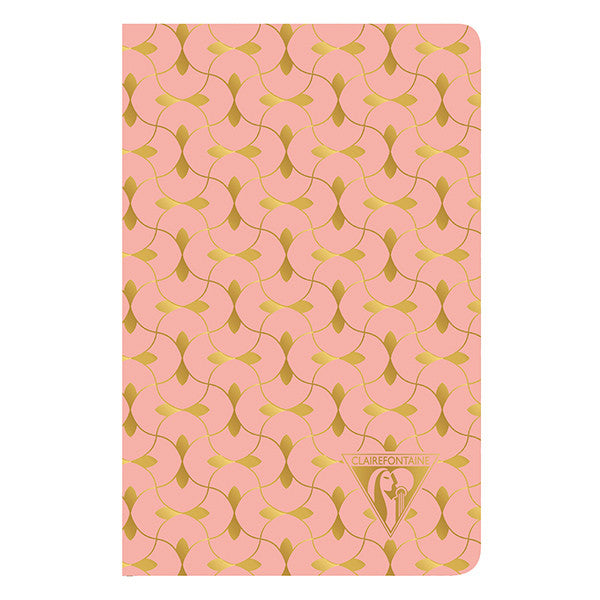 Clairefontaine Neo Deco Sewn Spine Notebook - Ivory Paper - Lined 48 Sheets - 6 x 8 1/4 - Coral