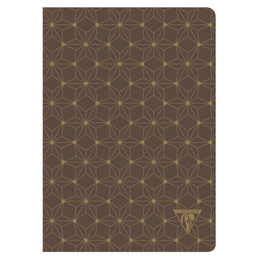 Clairefontaine Neo Deco Sewn Spine Notebook - Ivory Paper - Lined 48 Sheets - 6 x 8 1/4 - Constellation