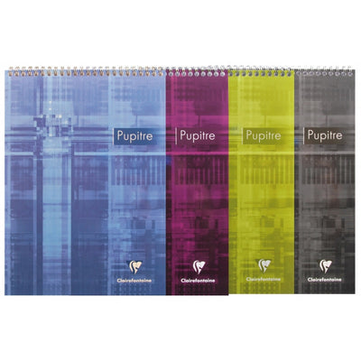Clairefontaine Wirebound Notepad - Graph 80 sheets - 8 1/2 x 11 3/4 - Assorted