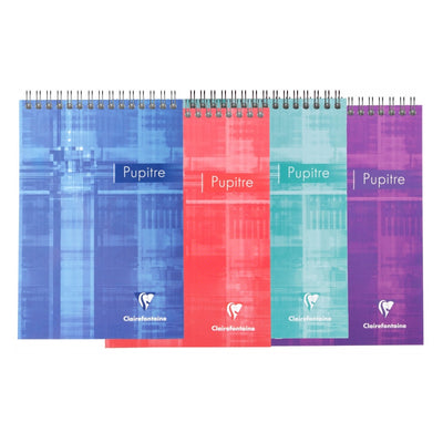 Clairefontaine Wirebound Notepad - Ruled 80 sheets - 5 3/4 x 8 1/4 - Assorted
