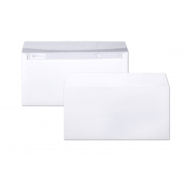 "Clairefontaine 25 Envelopes ""Triomphe"" Stationery - 4 3/8 x 8 5/8 Extra White Paper"