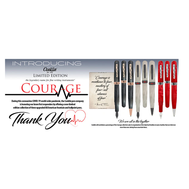 Conklin All American Courage Ballpoint Pen - Red (Limited Edition)