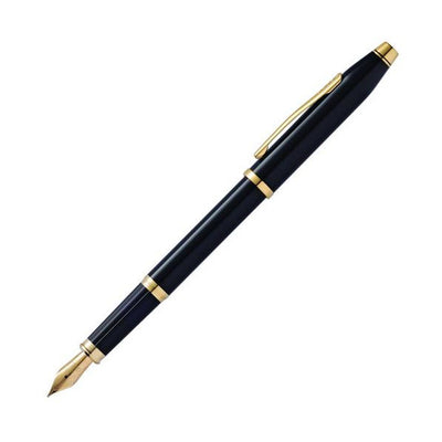 Cross Century II Fountain Pen - Black Lacquer w/ 23K Gold Plated Appointments
