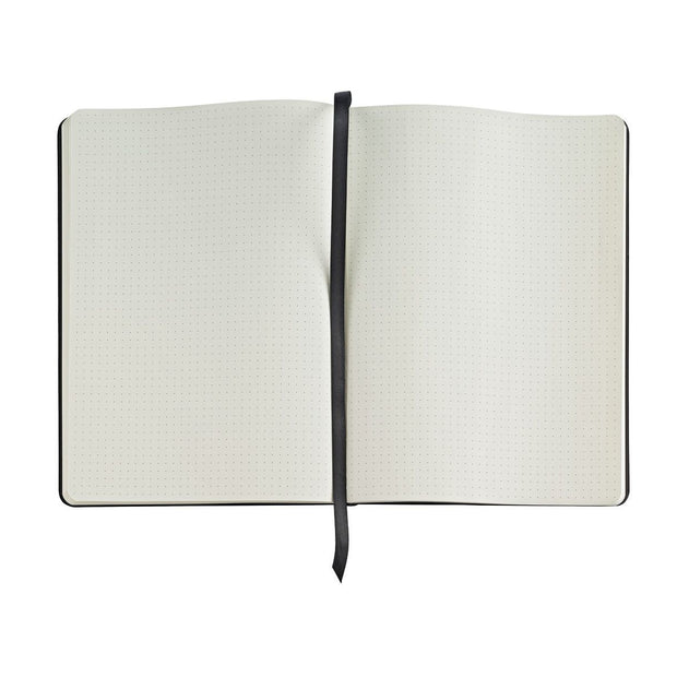 Cross Large Dotted Journal - Midnight Black