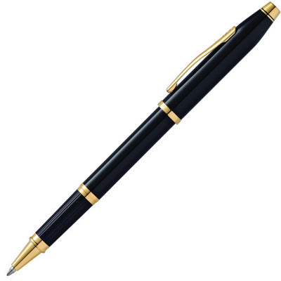 Cross Century II Rollerball Pen - Black Lacquer w/ 23 Karat Gold Plated Appointments