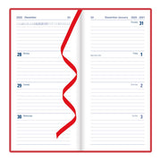 "Milano Week to View Planner, Red, 6 5/8"" x 3 1/4"""