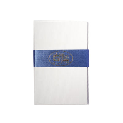"G. Lalo Classic Deckle-Edged Correspondence Stationery - 3 1/4"" x 5 1/4"" - White"