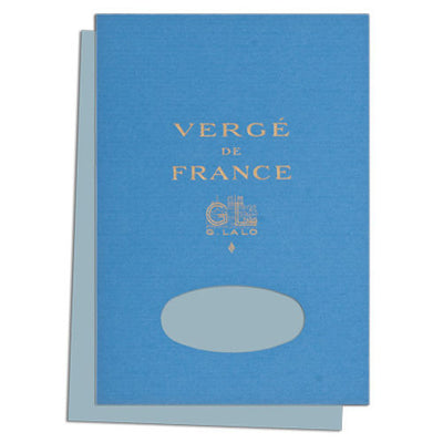 "G. Lalo ""Verge de France"" Tablet, Blue, 50 Sheets, 5 3/4"" x 8 1/4"""