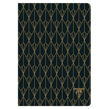 Clairefontaine Neo Deco Sewn Spine Notebook - Ivory Paper - Lined 48 Sheets - 6 x 8 1/4 - Diamond