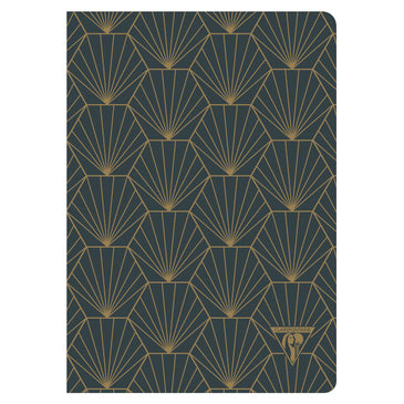 Clairefontaine Neo Deco Sewn Spine Notebook - Ivory Paper - Lined 48 Sheets - 6 x 8 1/4 - Shell