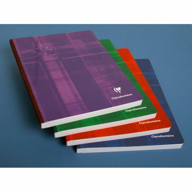Clairefontaine Clothbound Notebook - French ruled 96 sheets - 8 1/4 x 11 3/4 - Assorted