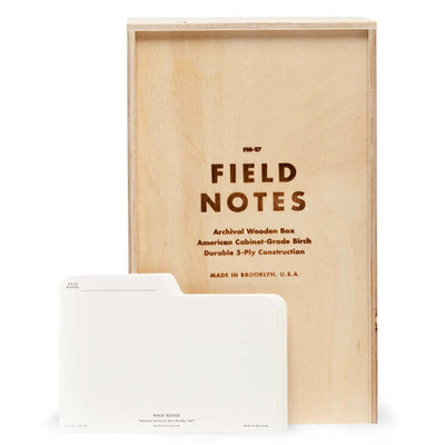 Field Notes Archival Wooden Box