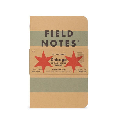 "Field Notes Chicago Edition 3-Pack, 3 1/2"" x 5 1/2"""
