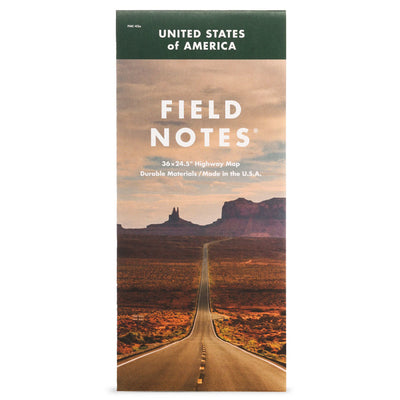 Field Notes Miler Marker Map