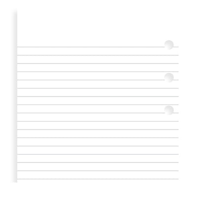 Filofax Ruled White Paper Refill (Value Pack) - Personal