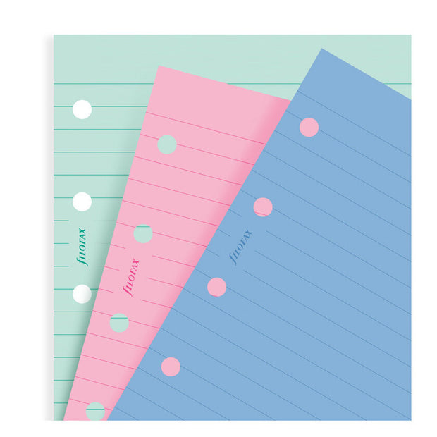 Filofax Ruled Assorted Paper Refill - A5