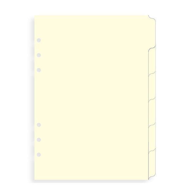 Filofax 6 Tab Cotton Cream Divider - A5