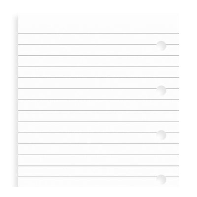 Filofax Ruled White Paper Refill - Mini