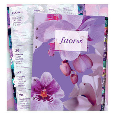 Filofax Week on Two Page Floral Refill - A5