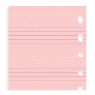 Filofax Ruled Pink Paper Refill - Pocket