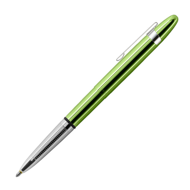 Fisher Space Pen Translucent Bullet Pen in Lime Green with Chrome Clip