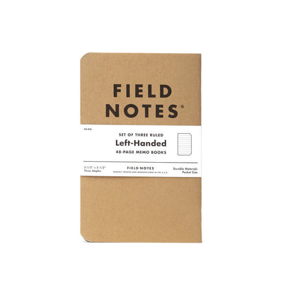 Field Notes Left Handed Memo Book 3-Pack