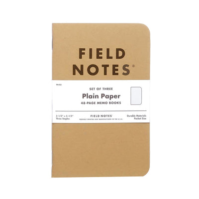 Field Notes Original Plain 3-Pack