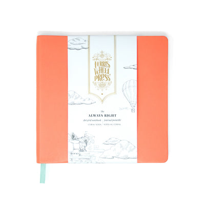Ferris Wheel Press Always Right Notebook - Coral Soda