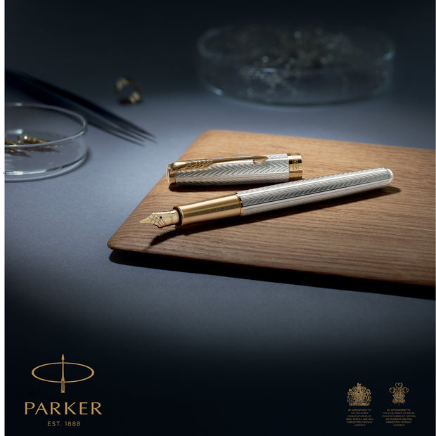 Parker Sonnet Fountain Pen -  Sterling Silver Fougere (Special Edition)