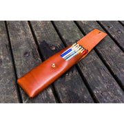 Galen Leather Pencil Case - Brown