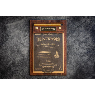 Galen Leather Note Board - Mahogany