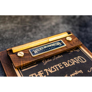 Galen Leather Note Board - Walnut
