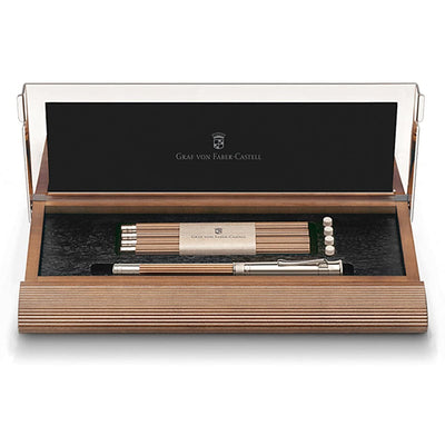 Graf von Faber-Castell Perfect Pencil Desk Set - Brown w/ Platinum Plated Appointments