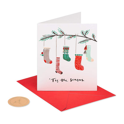 Papyrus Boxed Cards - Hanging Stockings