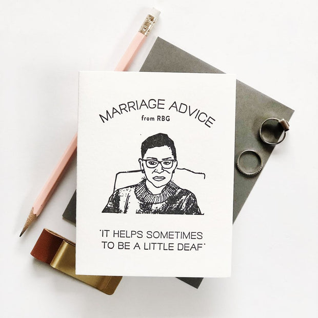 Marriage Advice From RBG Card